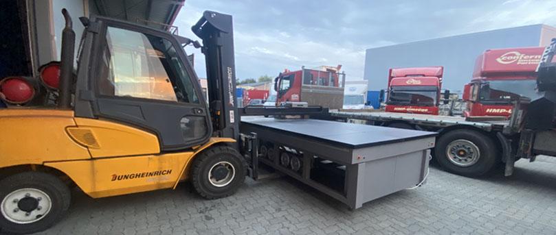 Schwertransport in Hamburg